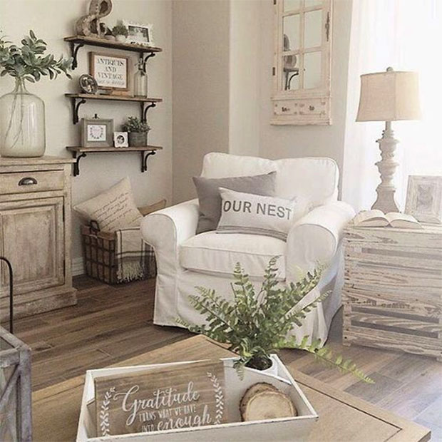 For A Wild And Rustic Appeal, Install Lots Of Rusted Wooden Shelves,  Bureaus And Cupboards, And Pick Out Arm Chairs And Sofas With Rustic Wooden  Accents.